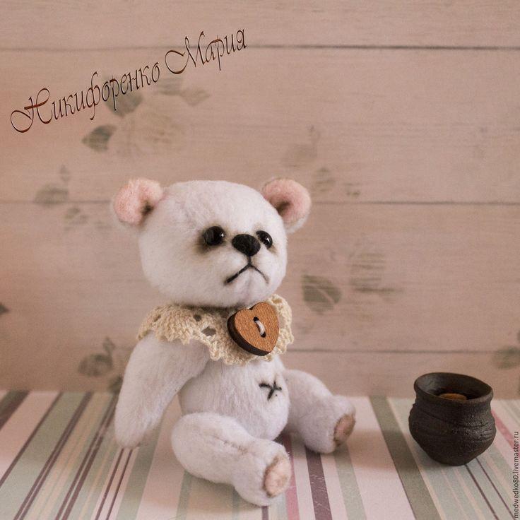 Купить Мишка тедди Арсюша - белый, мишка, мишка тедди, минимишка, миник, тедди, мишутка