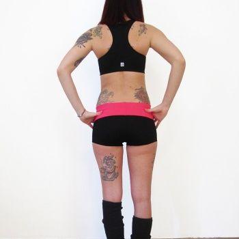 Pantaloncini fascia rosa - Mia wear - abbigliamento per pole dance