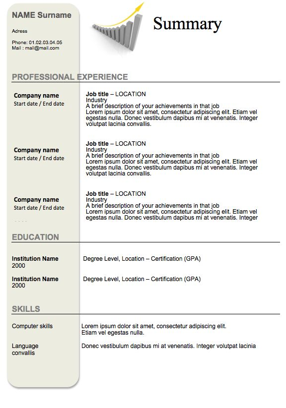 The 25+ best Accountant resume ideas on Pinterest Job resume, Cv - resume with no experience high school