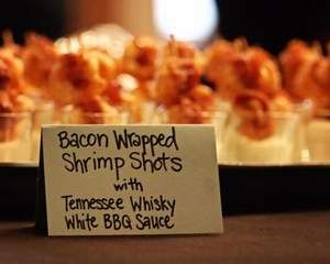 BACON WRAPPED SHRIMP SHOTS with TN Whiskey White BBQ Sauce - oh yes maam they are to die for!