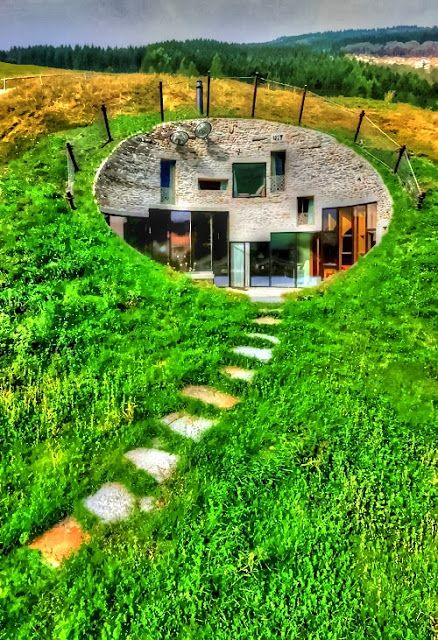 Underground House In Switzerland Buildings Pinterest Creative Awesome