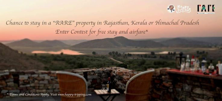 Win airfare + 3D/2N at an eco-luxury destination in India with Happy Tripping and Rare. Ends 15 Jan, 2015.