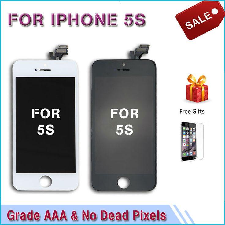 Tampilan untuk iphone 5 5 s 5c lcd modul dengan touch layar digitizer penggantian kaca clone telepon layar lcd Kelas AAA kualitas