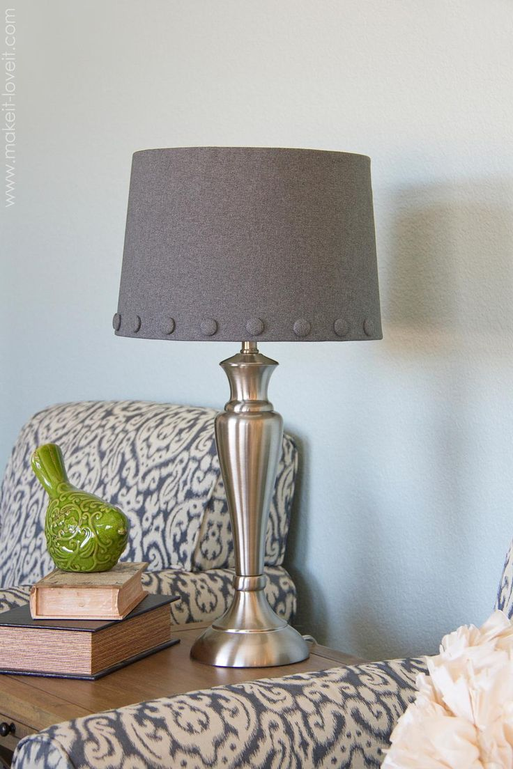 130 best diy lamps images on pinterest diy lamps diy lamp shade with cover buttons diy lamps mozeypictures Image collections
