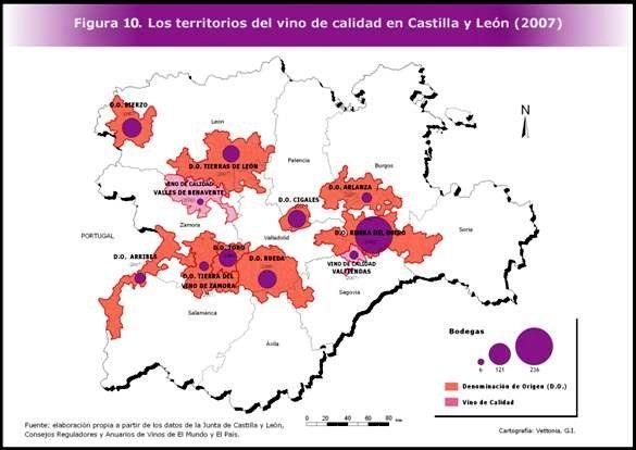 Demarcaciones de calidad vinícola de #CastillayLeón #Winemap