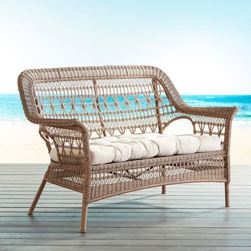 Layla Light Brown Settee Pier 1 Imports
