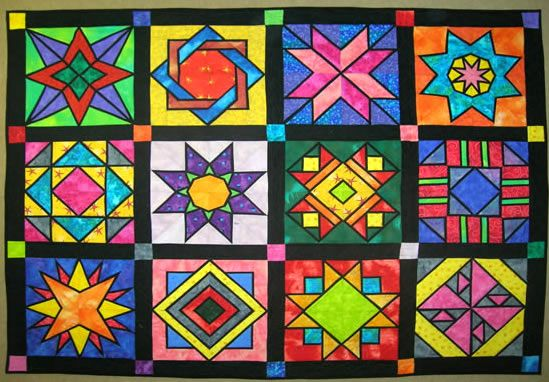 Paper Pieced Stained Glass Quilts Believe It Or Not But