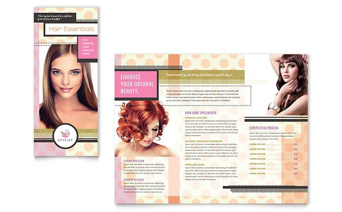Hairstylist Brochure Template Design by StockLayouts