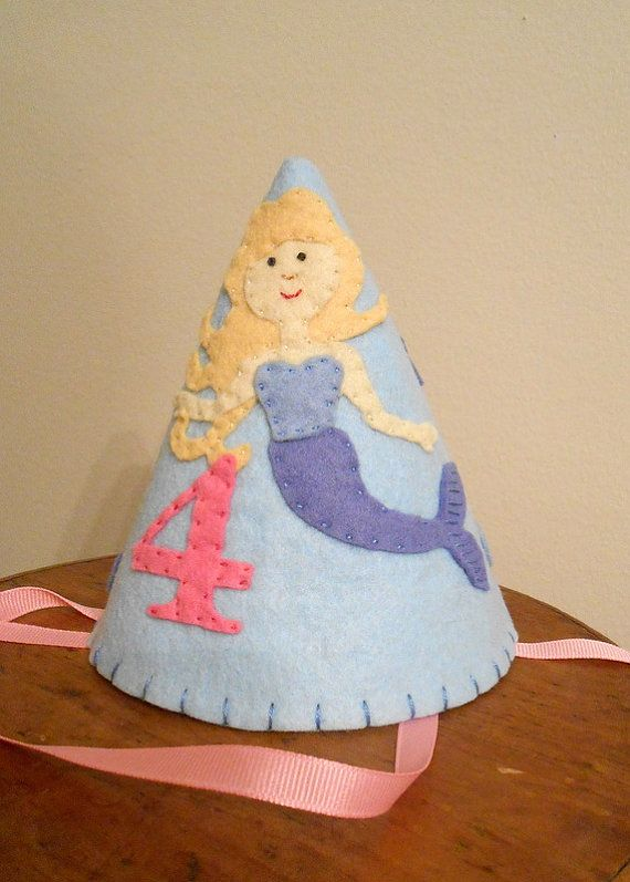 Felt Mermaid Party Hat