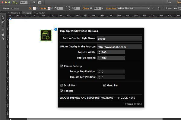 Pop-Up Window Adobe Muse Widget by MuseTemplatesPro on @creativemarket