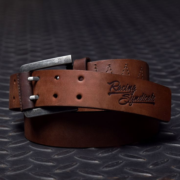 #4SR #belt DOUBLE with Racing Syndicate logo #biker