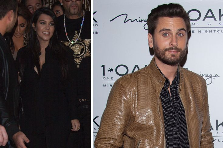 PHOTO: Kourtney Kardashian & Scott Disick from 1 OAK Las Vegas - Scott Says Being at Home With Family is More Important Than Money via: Celebuzz.com