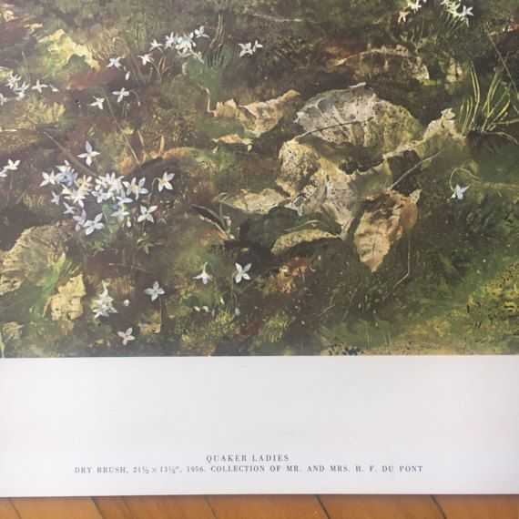 "Andrew Wyeth ""Quaker Ladies"" Litograph from 1962 Four Seasons - 12 Reproductions"" Art Print Set"