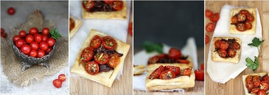 Cherry Tomato & Caramelised Onion Tartlettes: Gee Onions, Sweet Cherries, Caramelis Onions, Crystals Exploding, Cherry Tomatoes, Cherries Tomatoes, Onions Tartlett, Flavour Crystals