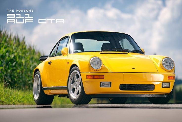 """911 Ruf CTR """"Yellowbird"""" 469 hp and 408 lb-ft of torque for a 3.7 launch to 60 and a top speed of 211 mph"""