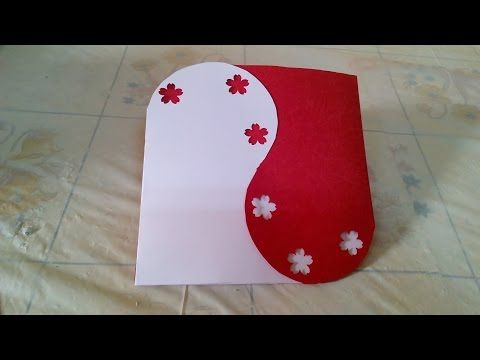 Creative Ideas :How to Make Handmade Valentine's Card - DIY + Tutorial . - YouTube