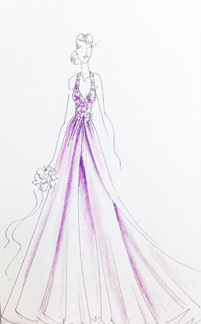Jasmine Wedding Dress Sketch | 2015 Disney's Fairy Tale Weddings by Alfred Angelo Wedding Dress Collection