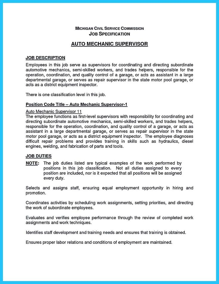 nice Writing Your Great Automotive Technician Resume, Check more - automotive mechanic resume