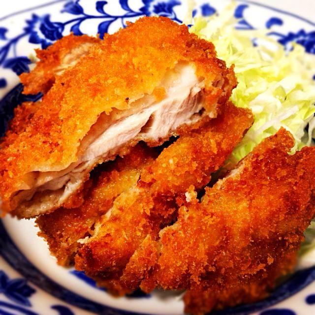 10月14日夕食メニュー ⚫︎チキンカツ ⚫︎イタリアンサラダ ⚫︎ほうれん草のコンソメスープ - 7件のもぐもぐ - チキンカツ by 下宿hirota&メゾンhirota