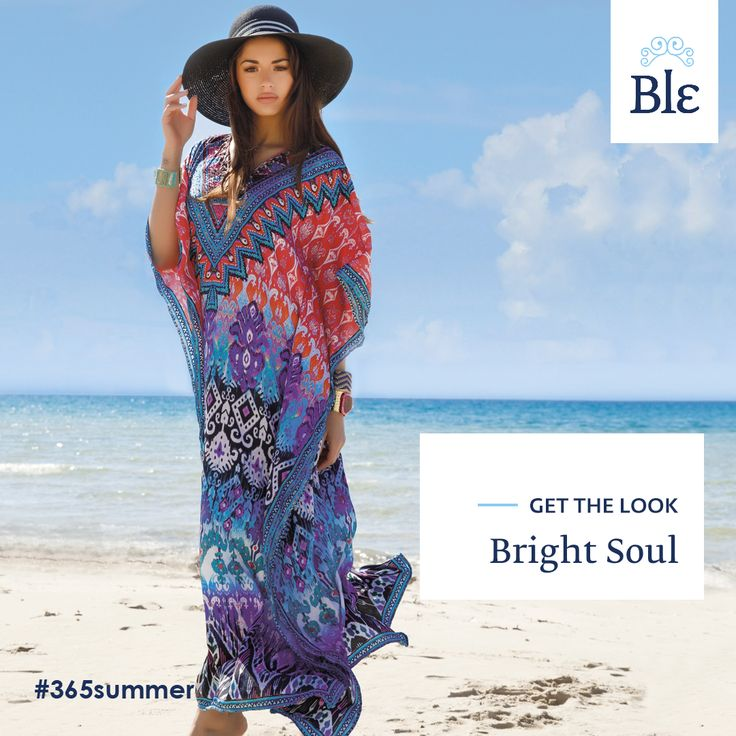 You feel happy and you want to show it!  Choose a long, impressive dress with vivid colours and patterns –red, blue & purple. Finish the look with the most stylish blue hat for an extra dose of glam! Get the look here www.ble-shop.com