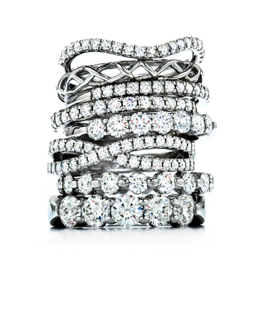 We love stackable diamond rings! | heartsonfire.com