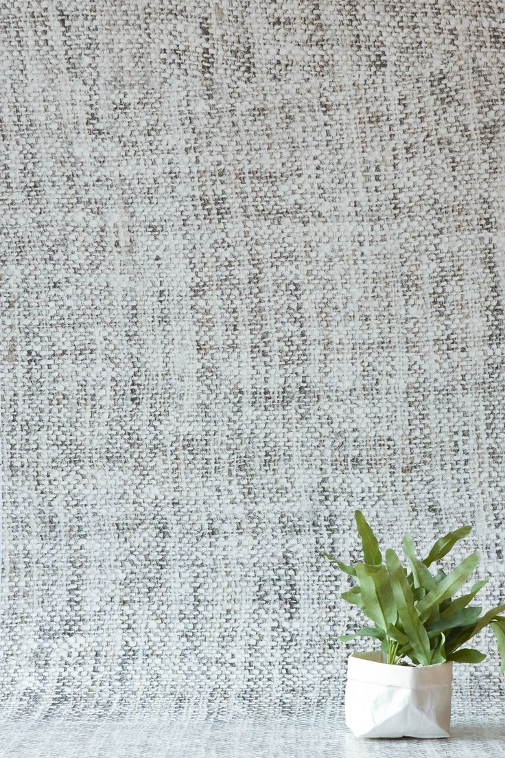 Pale Grey Tricot Wallpaper by WYNIL. The timeless feel of weaves in your home or office. Super easy installation, worldwide shipping :)