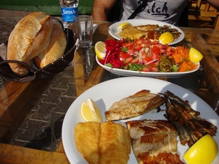 Fish Dinner by Turkish Travel,