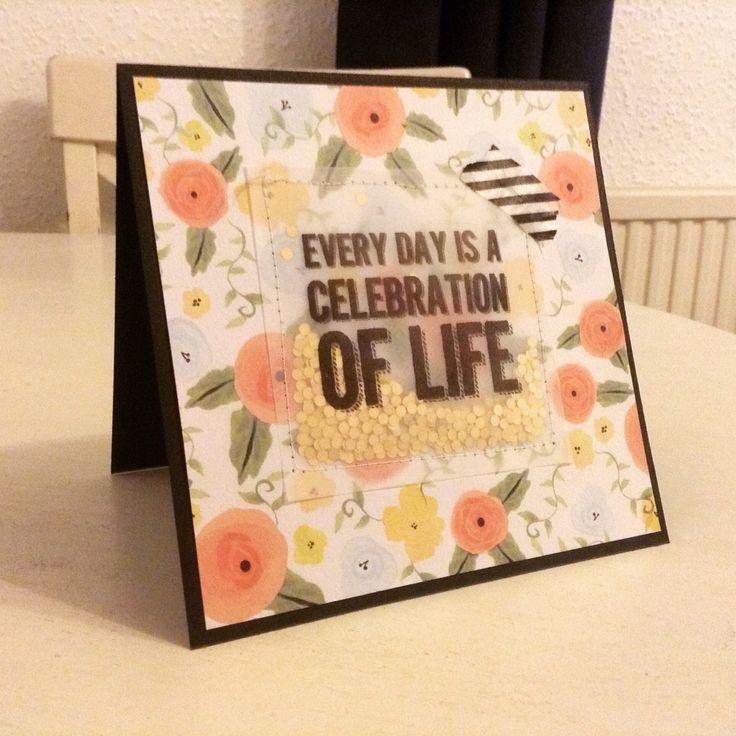 Celebrate life card - irregular crafts