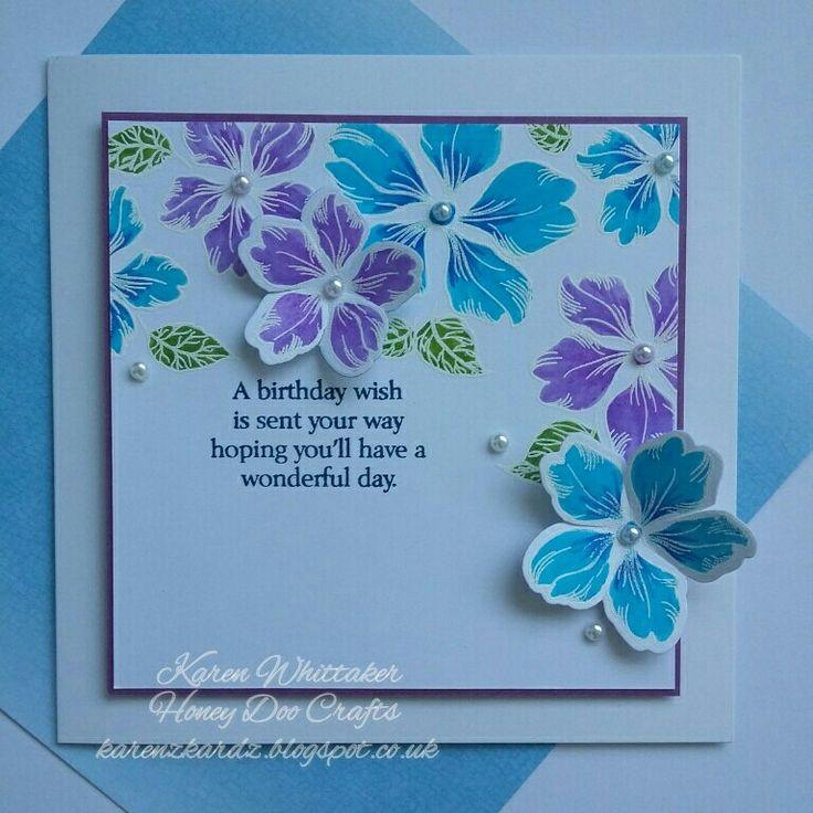 Vintage Flowers stamp and die from Honey Doo Crafts  #honeydoocrafts #dtsample #vintageflowers #stamps #die #flowers #distressinks #cards #craft #creative #ilovetocraft #creativity #karenzkardz