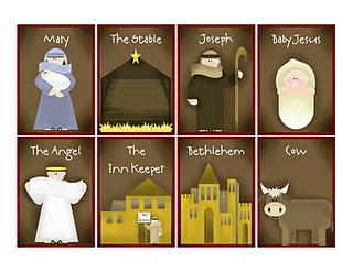 Nativity memory Game.