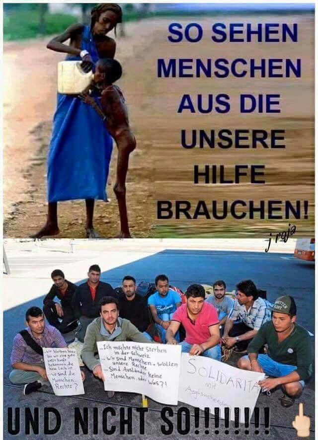 So sehen Menschen aus, die unsere Hilfe brauchen und nicht so!!!!