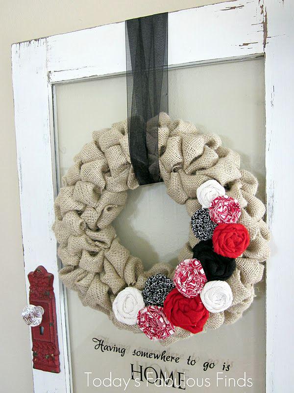 Valentine Burlap Bubble Wreath