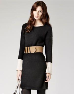 robe noire à manches longues de gérard darel