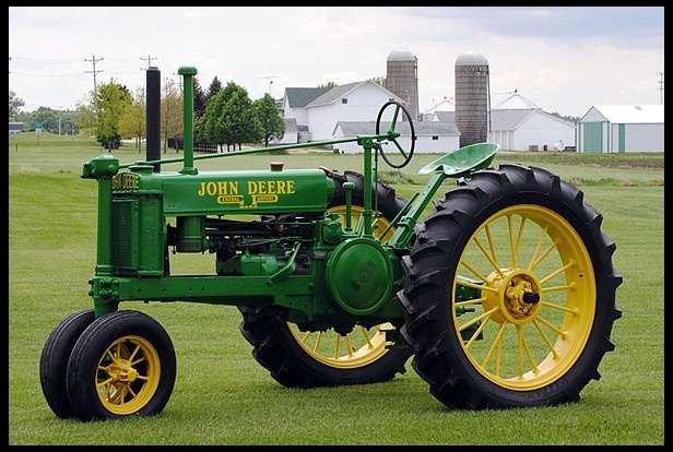 1937 John Deere Model B, Narrow front. Spent many hours farming with one of these.