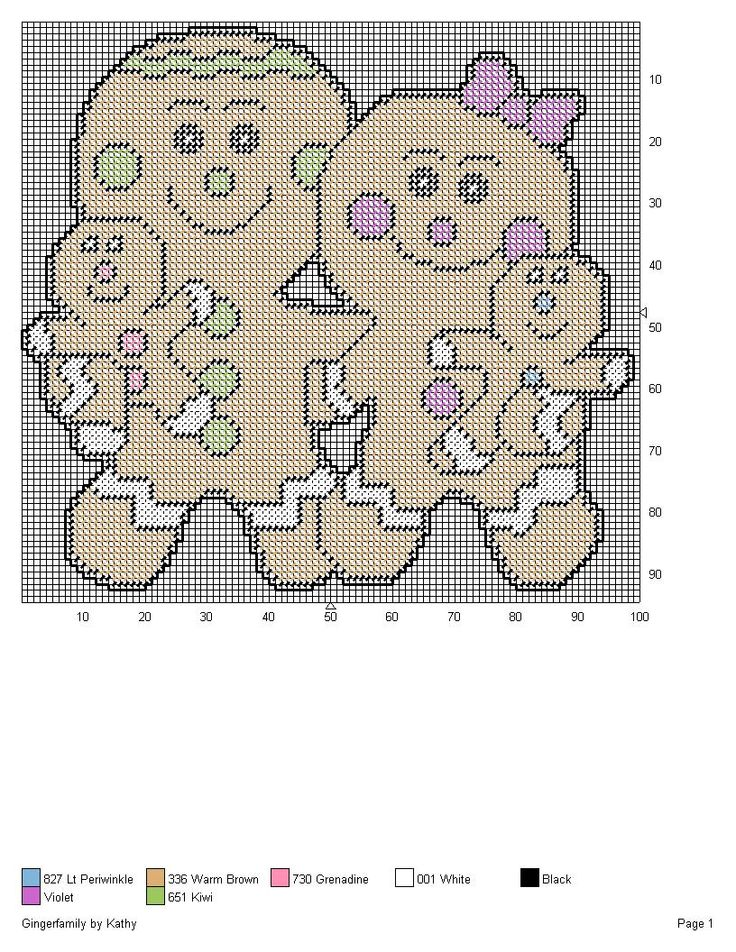 GINGERFAMILY by KATHY -- WALL HANGING