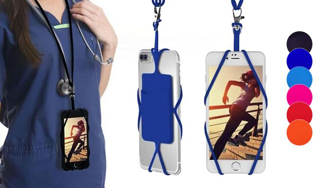 Buy Universal Smartphone Lanyard Necklace and Wrist Strap - 6 Colours for just £4.99 Always losing your mobile? Get theUniversal Smartphone Lanyard Necklace      Buy one or two      Available in 6 colours including: blue, red and black      Please see 'Full Details' for all colours            Just pop your mobile in                  Has a separate compartment for cards                  Use...