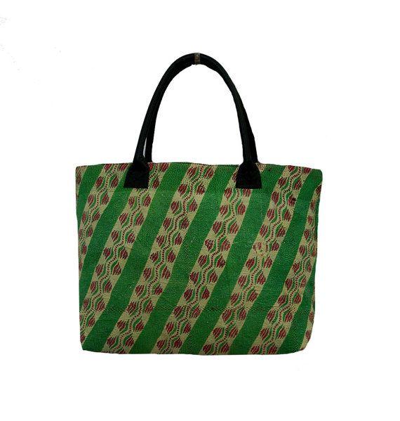 Vintage Kantha Tote Bag  Large Sari Kantha by MyCraftPalace