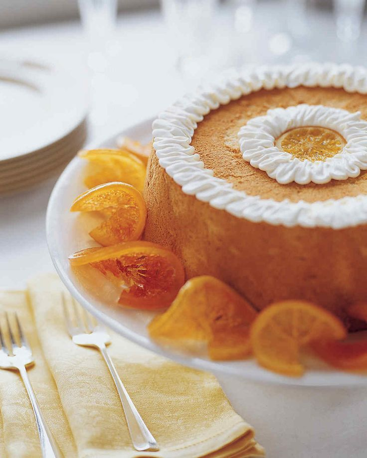 Brown Sugar Angel Food Cake With Candied Citrus Slices Martha Stewart Living This Heavenly