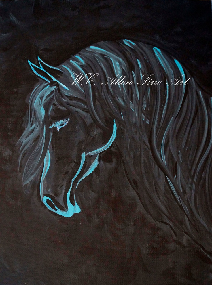 Mustang horse painting - photo#51