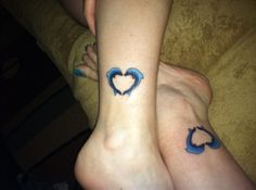 my first tattoo matching friendship dolphins with my bestie of 28 yrs.