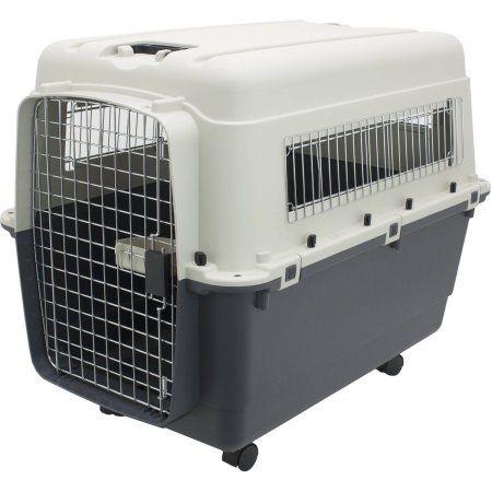 Kennels Direct Premium Plastic Dog Kennel, XL, Beige
