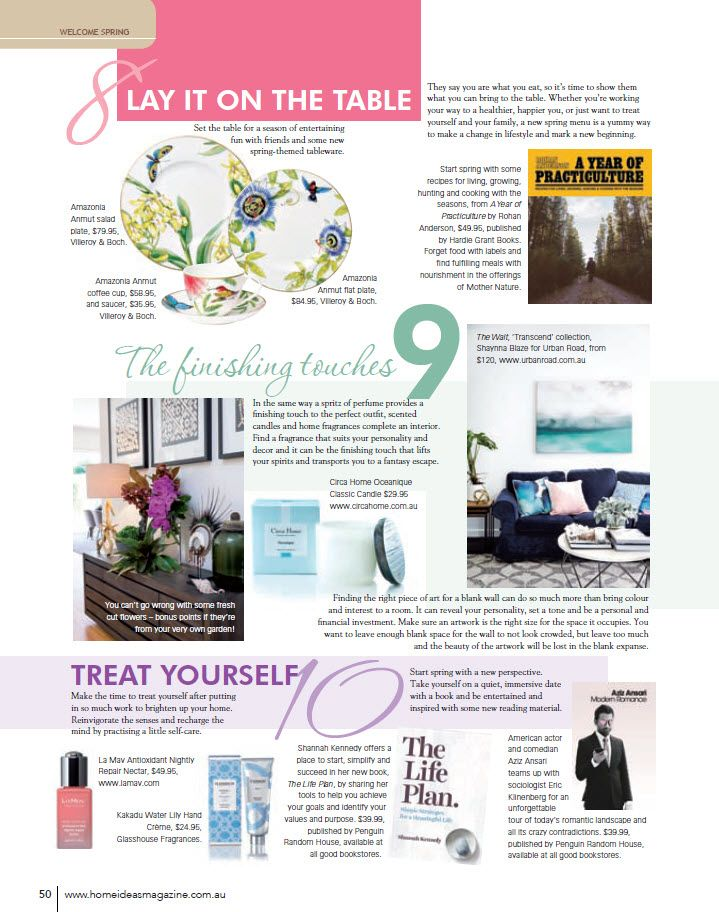 Home Ideas – Spring, 2015 // featuring #LaMav Antioxidant Rich Nightly Repair Nectar
