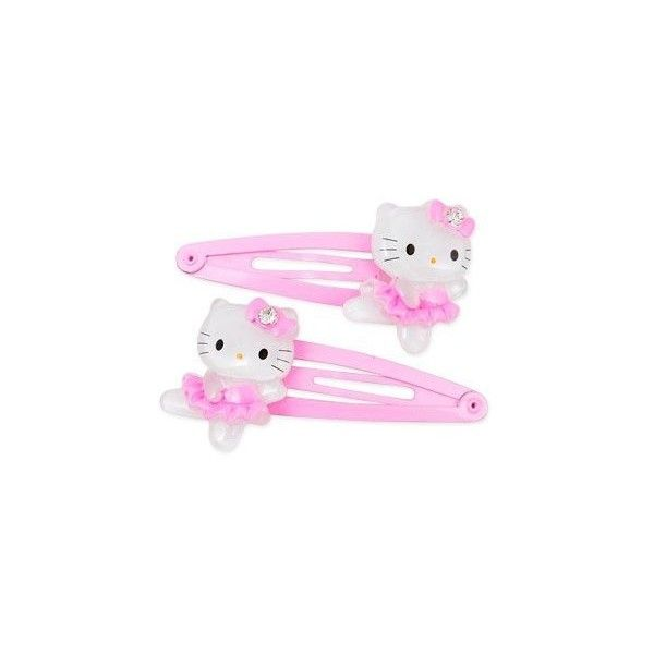 Amazon.com: Hello Kitty Hair Accessory Clips: Ballerina: Toys & Games ($4.99) ❤ liked on Polyvore featuring accessories, hair accessories, hair, hello kitty, fillers, hello kitty hair accessories and ballet hair accessories