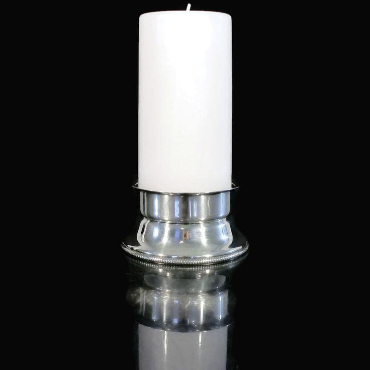 New to Revendeur on Etsy: Vintage Silverplate Pillar Candle Holder -- Eisenberg Lozano Italian Imported Silverplate -- Midcentury Candleholder -- CA0100 (18.00 USD)