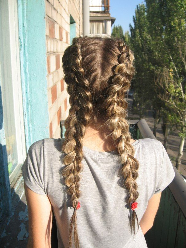 Reverse French braids