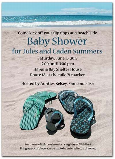 25+ best ideas about beach baby showers on pinterest | beach theme, Baby shower invitations