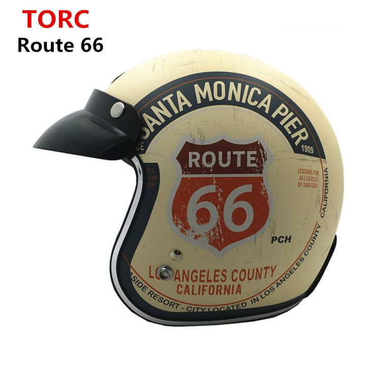 2016 Nowy TORQUES T50 Route 66 kask Motocyklowy jet DOT Vintage Skuter kask cruise retro kask capacete moto casco dla harley(China (Mainland))