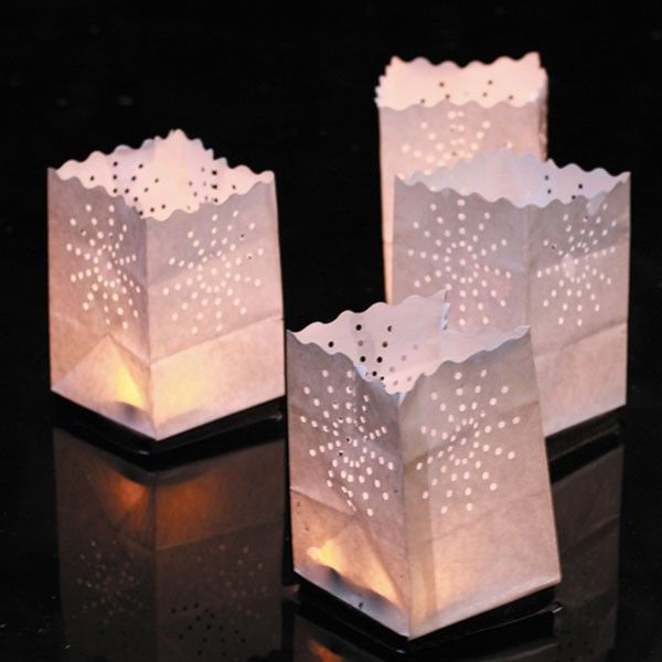 Set van 4 papieren lantaarns drijvende Zoom Luminaria JardinChic