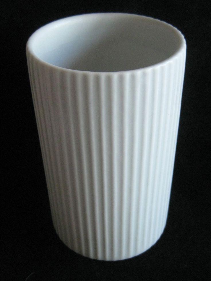Vtg 60's Kaj Franck Arabia Finland Mid Century Modern White Cylinder Vase Eames | eBay