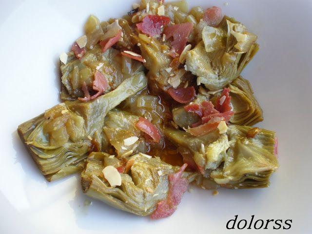 Blog de cuina de la dolorss: Alcachofas al vino blanco (Olla Rápida)